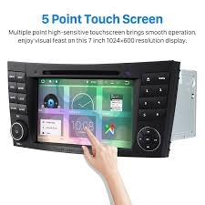 mercedes e class bluetooth android 7 1 car stereo dvd gps system for 2002 2008 mercedes