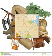 safari binoculars clipart vector safari concept with map stock vector image 70488784