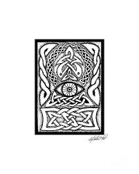 celtic all seeing eye drawing by kristen fox