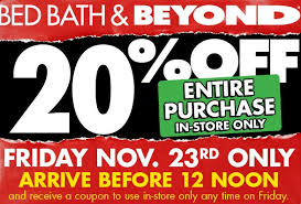 amazon black friday coupons 2016 bed bath and beyond black friday 20 off entire purchase coupon