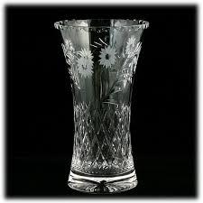 Vintage Waterford Cut Glass Crystal Vase Starburst Pattern Edinburgh Crystal Cut Glass Vase Argyll Flowers Vintage Scottish