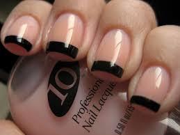goose u0027s glitter black french mani