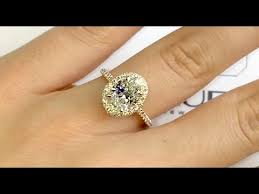 2 carat gold engagement ring 2 carat oval halo engagement ring in gold