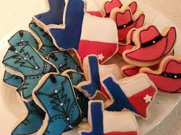 Texas Flag Decor Rodeo Decorated Sugar Cookies Royal Icing Red White Blue