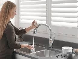 touch sensor kitchen faucet faucets touch sensor kitchen faucet moen faucets water sense3 with