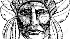 native american indian drawing hand drawn native american indian
