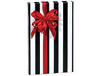 black and white striped wrapping paper domino alley stripes 24 x85 roll gift wrap a7001285