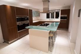 used kitchen island large siematic used kitchen island with raised seating area corian