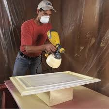 spray paint for kitchen cabinet doors how to spray paint kitchen cabinets diy family handyman