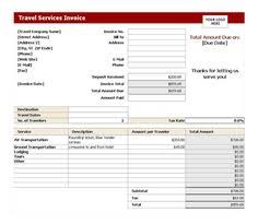 Service Invoice Template Excel Travel Agency Invoice Format Excel Invoice Templates