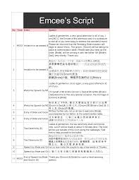 Sample Of A Wedding Program Sample Wedding Program Script Tbrb Info