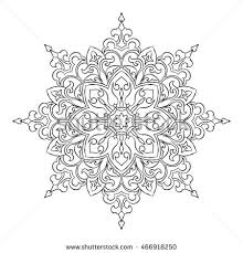 outline mandala coloring book decorative stock vector