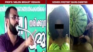 bare breast farooq college kerala professor s melon breast remark women