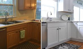 painting oak kitchen cabinets white before and after painting oak cabinets grey archives kitchencabinetplansideas com