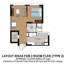 2 Room Flat Floor Plan Northshore Trio Punggol 2016 Novemeber Facebook