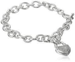heart tag charm bracelet images White charm bracelet shop jpg