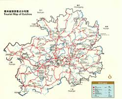 Chongqing China Map by Guizhou