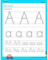 let u0027s trace a u2013 free fun alphabet worksheets for kids u2013 jumpstart
