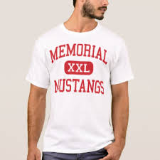 memorial mustangs go memorial mustangs t shirts shirt designs zazzle