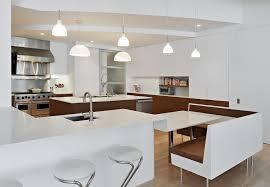 modern kitchen banquette with globe pendant light kitchen modern