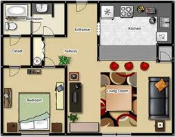 one bedroom floor plans easy one bedroom apartment plan also interior home ideas color