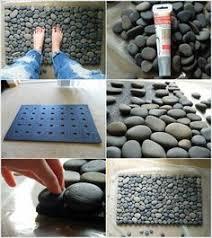 si e auto pebble how to a diy pebble bath mat door mats doors and craft