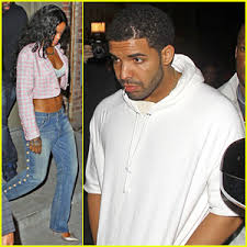 Drake Wheelchair Meme - rihanna shows off toned stomach for night out with drake at