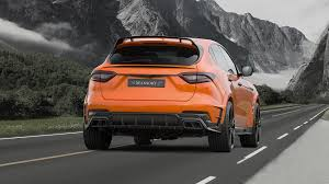 maserati levante blacked out mansory tuned a maserati levante and the result is very orange