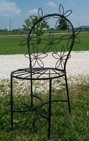 Wrought Iron Patio Furniture Set by Wrought Iron Daisy Table U0026 Chair Set