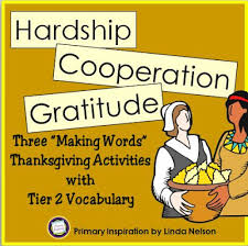 classroom freebies words with thanksgiving vocabulary