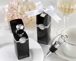 wine stopper wedding favor with this ring chrome diamond ring bottle stopper wine wedding