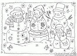 czeshop images snowman family coloring