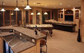 finished basement ideas also with a small basement finishing ideas