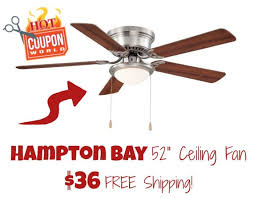 36 inch hugger ceiling fan home depot coupon deal hton bay 52 in hugger ceiling fan 36