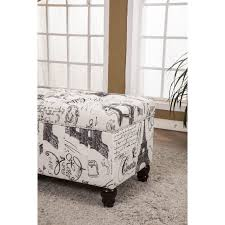 Gray Storage Bench Bedroom Storage Bench Lattimer Upholstered Storage Benchbedroom