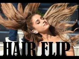 hair that flips in the back ariana grande signature hair flip compilation youtube