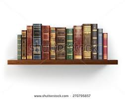 vintage on the shelf vintage books on shelf isolated stock illustration 270795857