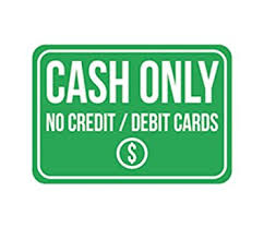 No Credit Business Credit Card Amazon Com Cash Only No Credit Debit Cards Print Green White