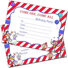 bingo for printables circus invitations