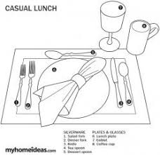 Formal Breakfast Table Setting Casual Lunch Table Setting Etiquette Setting The Table