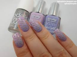 nail art tutorial 80 glitter lilac youtube the little canvas