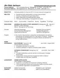 Graduate Internship Resume Examples Training Internship Resume Nursing Home Receptionist
