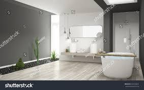 minimalist white bathroom succulent garden wooden stock minimalist white bathroom with succulent garden wooden floor and pebbles hotel spa