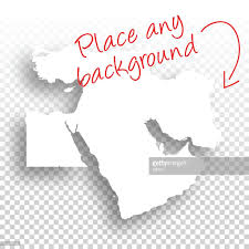Blank Middle East Map by Middle East Map For Design Blank Background Vector Art Getty Images