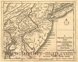 New Jersey Map New Jersey In 1700 U0027s