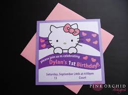 pink orchid weddings dylan u0027s hello kitty birthday invitations