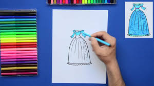 how to draw a pretty princess dress youtube