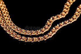 red gold necklace images Red gold chain stock image image of close large black 12158079 jpg