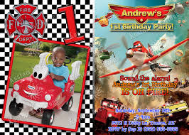 planes 2 fire and rescue birthday invitation kustom kreations