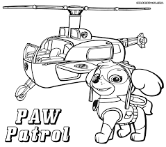 paw patrol printable coloring pages coloring home